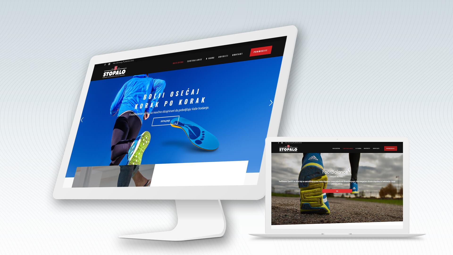 Stopalo izrada web sajta